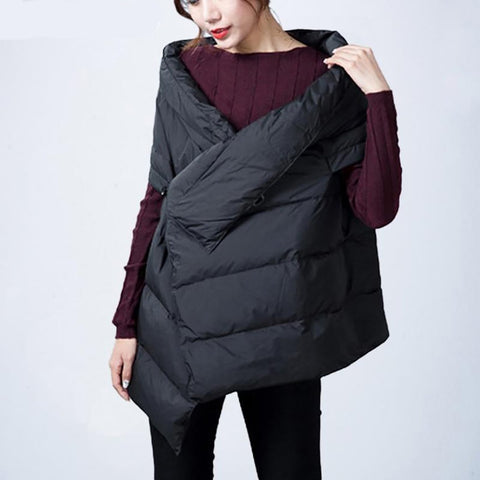 Women's Down Vest Sleeveless Fashionable for Winter