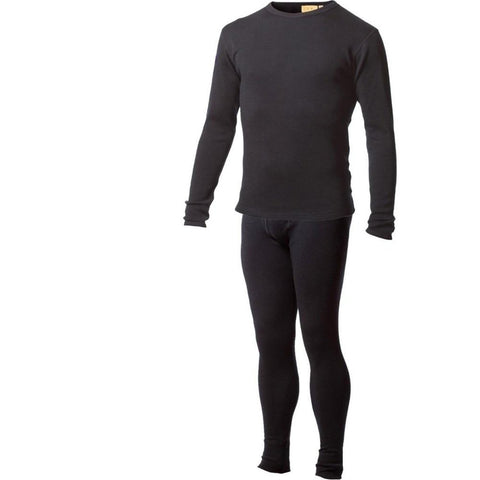Men's Sweater and Pants Underwear Set 100% Pure Merino Wool Base Layer Thermal Warm Breathable Mid Weight for Winter