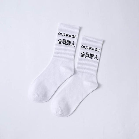 Men's Random Socks 50pcs/set Cotton Medium Crew Cartoon Character Print