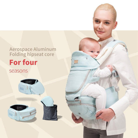 Baby Carrier 6 in 1 Sling Foldable Hipseat 360 Multifunctional Wrap Backpack
