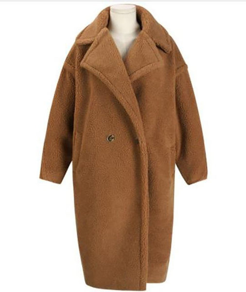 Women's Teddy Coat Faux Fur Thick Oversize Lambwool for Winter