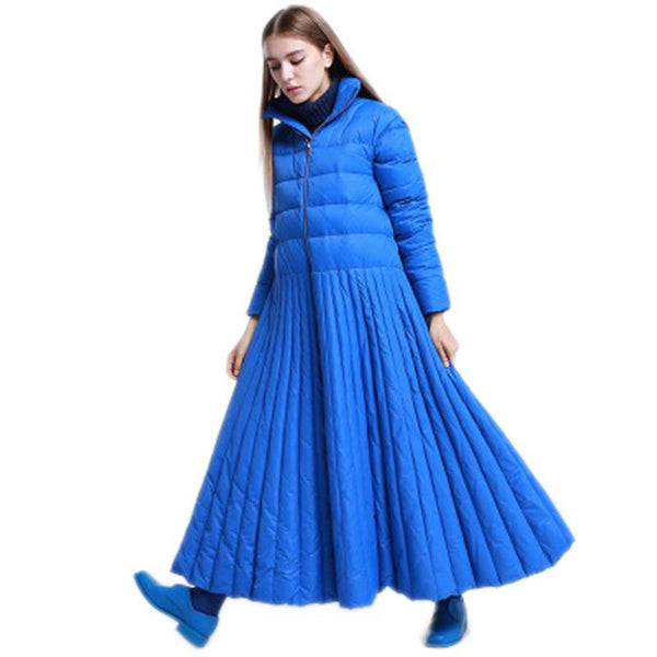 Women's Long Down Coat Skirt Style Plus Size Casual Warm for Autumn Winter