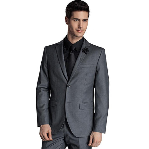 Men's Jacket and Pants Suit 2pcs/set Slim Fit Two Buttons for Wedding