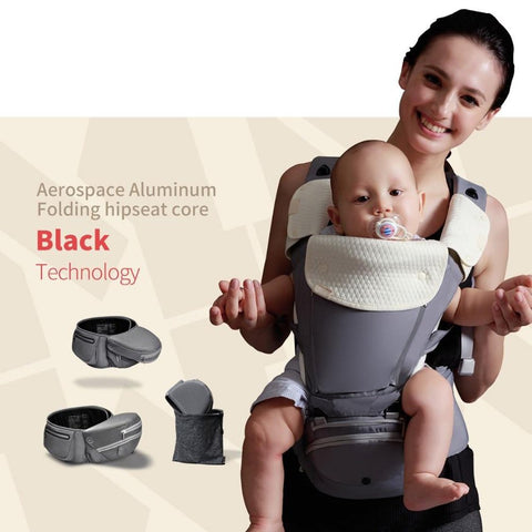 Baby Carrier Foldable Aluminium Wrap Ergonomic Sling Multifunctional Hipseat