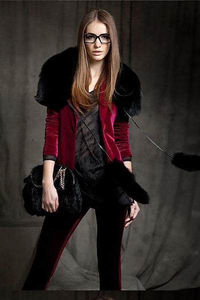 Women's Suit Jacket Velvet Slim Thin American Small for Autumn
