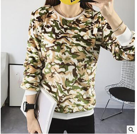 Women's Hoodie Loose Face Smiling Expression Prints Flannel for Autumn Winter