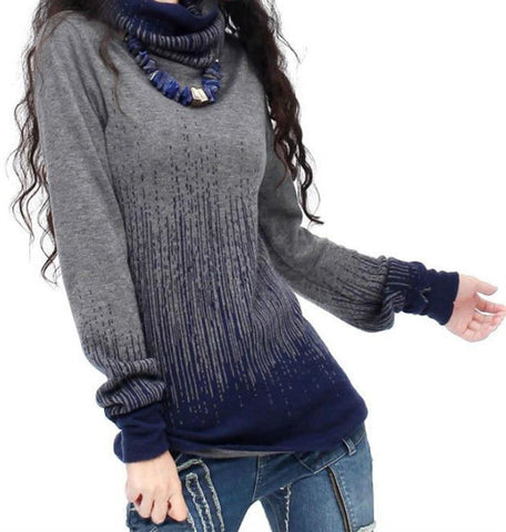 Women's Sweater Vintage Cashmere Turtleneck Thick Warm for Winter