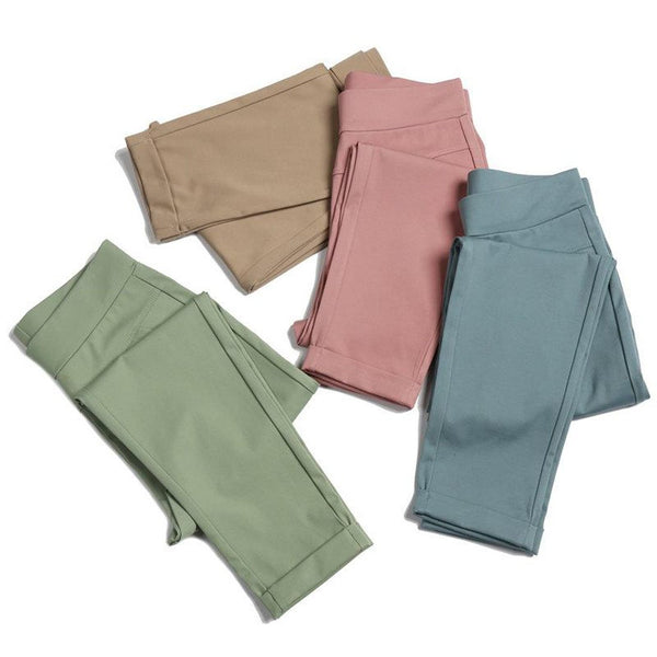 Women's Pants Big size Elastic Thin High Waist for Summer
