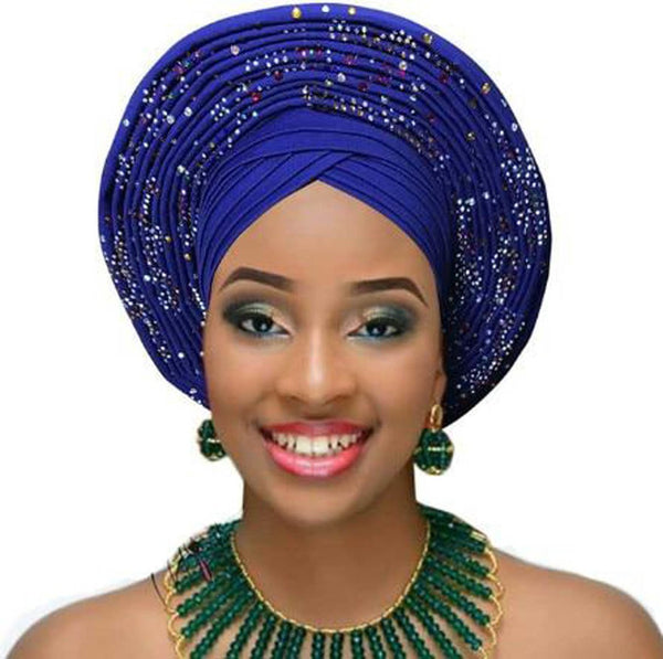 Women's Auto Gele Headtie Already Tied