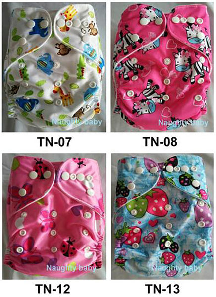 Baby's Cloth Diaper 50ps/set Reusable Printed Washable Pocket with Microfiber Insert