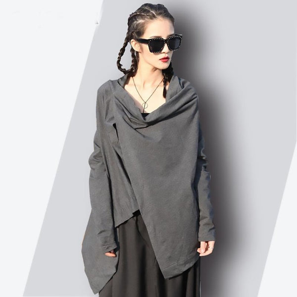 Women's T-shirt Irregular Asymmetrical Batwing Sleeve Loose Streetwear for Summer