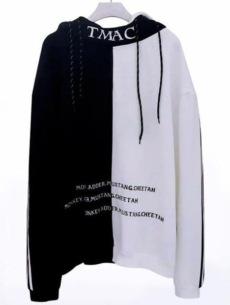 Men's Hoodie Letter Embroidery Thick Warm Hip Hop Streetwear