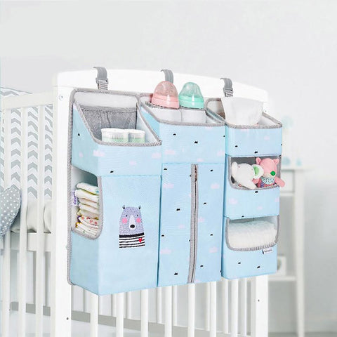 Baby Crib Organizer Portable Hanging Diaper Storage Bedding