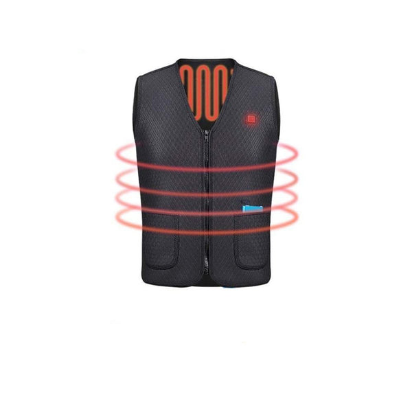 Men's Coat Super Warm Heated Outdoor Battery Powered USB Charging Windproof Sleeveless