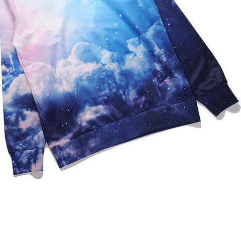 Men's Sweatshirt Cotton 3D Printed Sky Casual for Spring