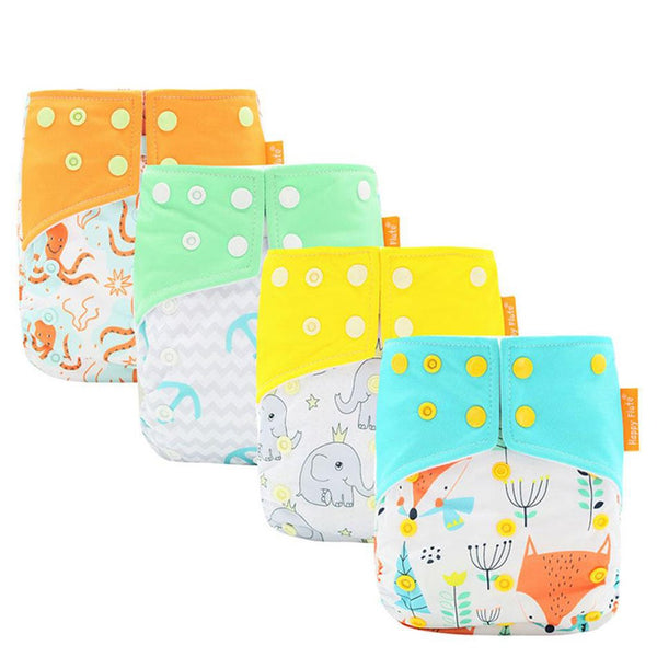 8-35 Pounds Baby Cloth Diapers 10pcs/set Two Pocket Nappy Fast Dry for Summer