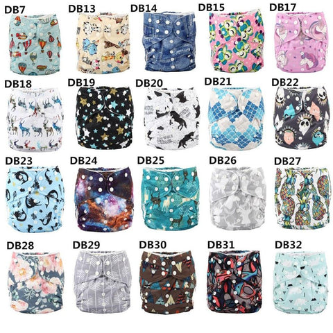 2-7 Years Old Kid's Cloth Diapers 10pcs/set Nappy Pocket Reusable Washable Microfleece Inner