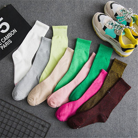 Women's Tube Socks Onion Letters Street Tide