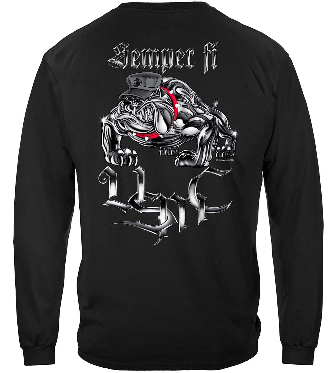 Semper Fi Chrome Dog Marine Corps Premium Long Sleeves