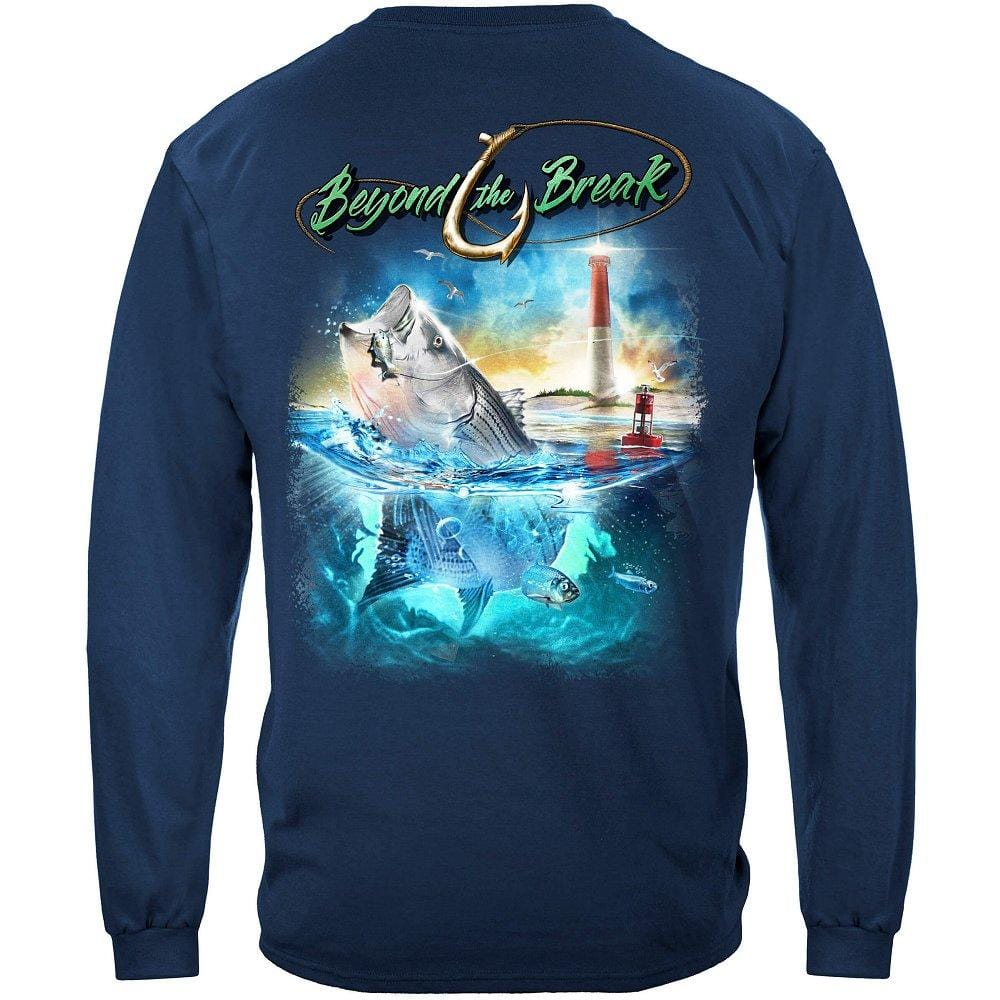 Striped Bass Fish Beyond The Break Premium Long Sleeves