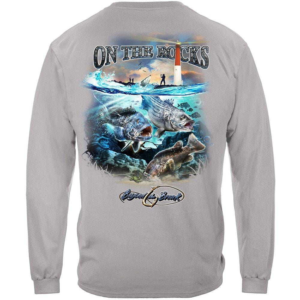 On the Rocks Striped Bass Sea Bass Black Fish Premium Long Sleeves