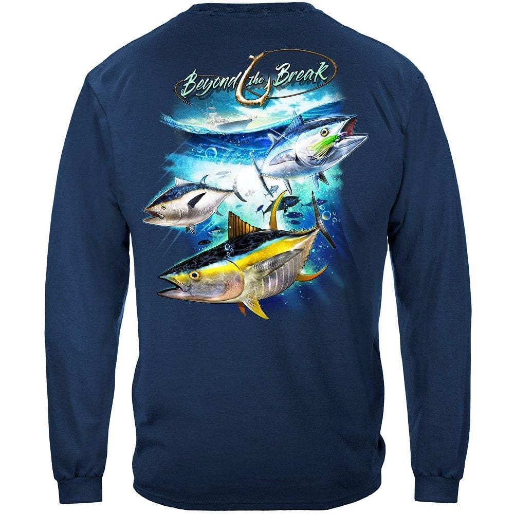 Tuna Time Off Shore Fishing Premium Long Sleeves