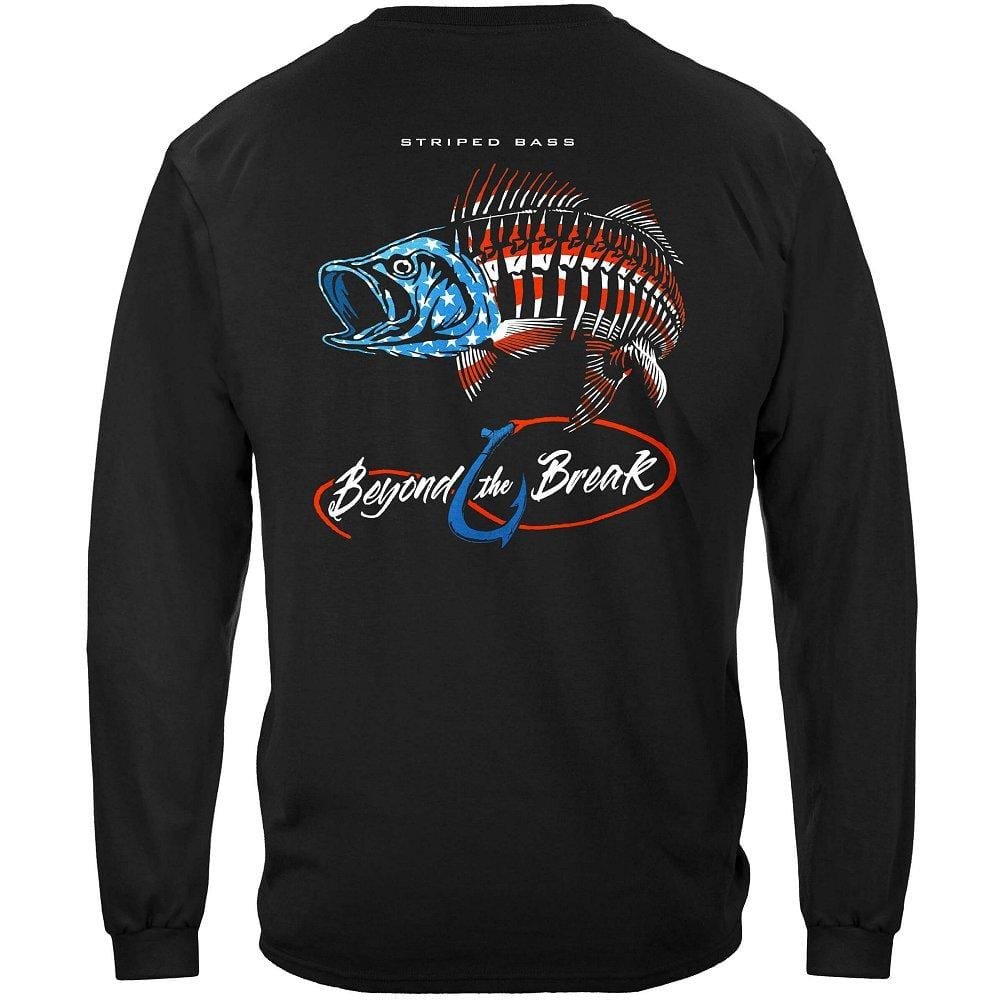 Patriotic Striped Bass Premium Long Sleeves