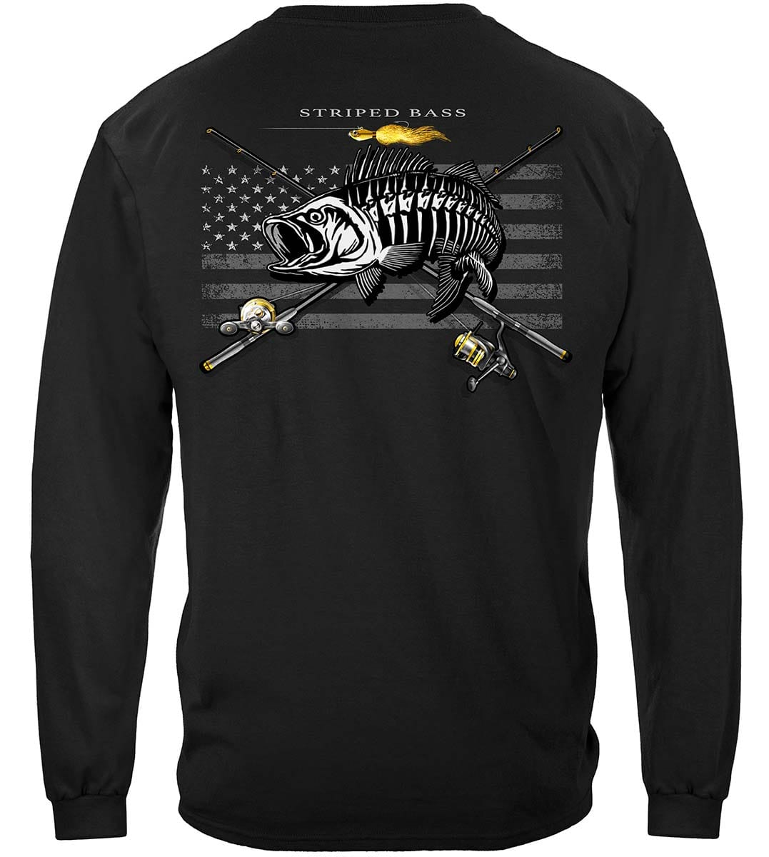 Black Flag Patriotic Striped Bass Premium T-Shirt