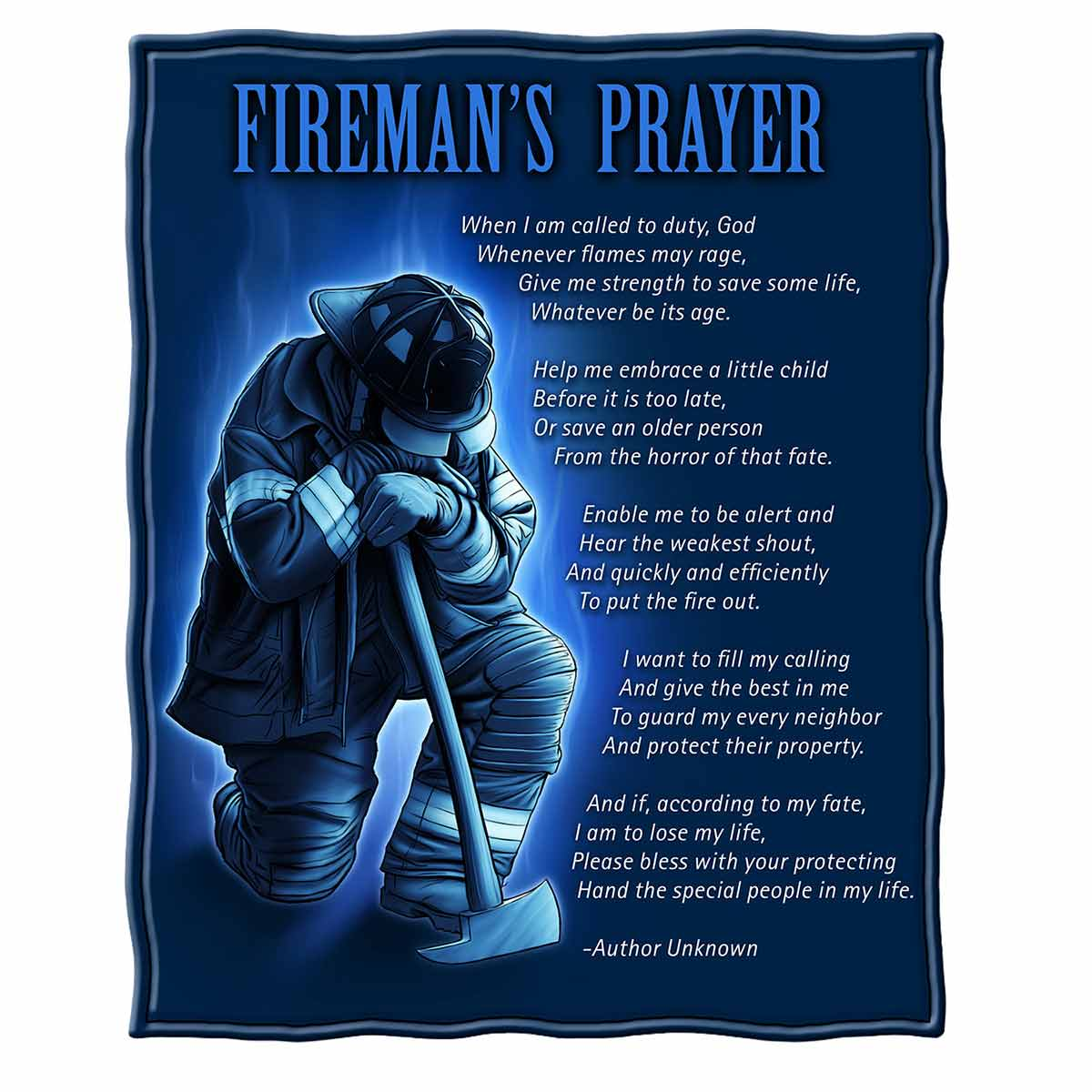 Fireman's Prayer Premium Blanket