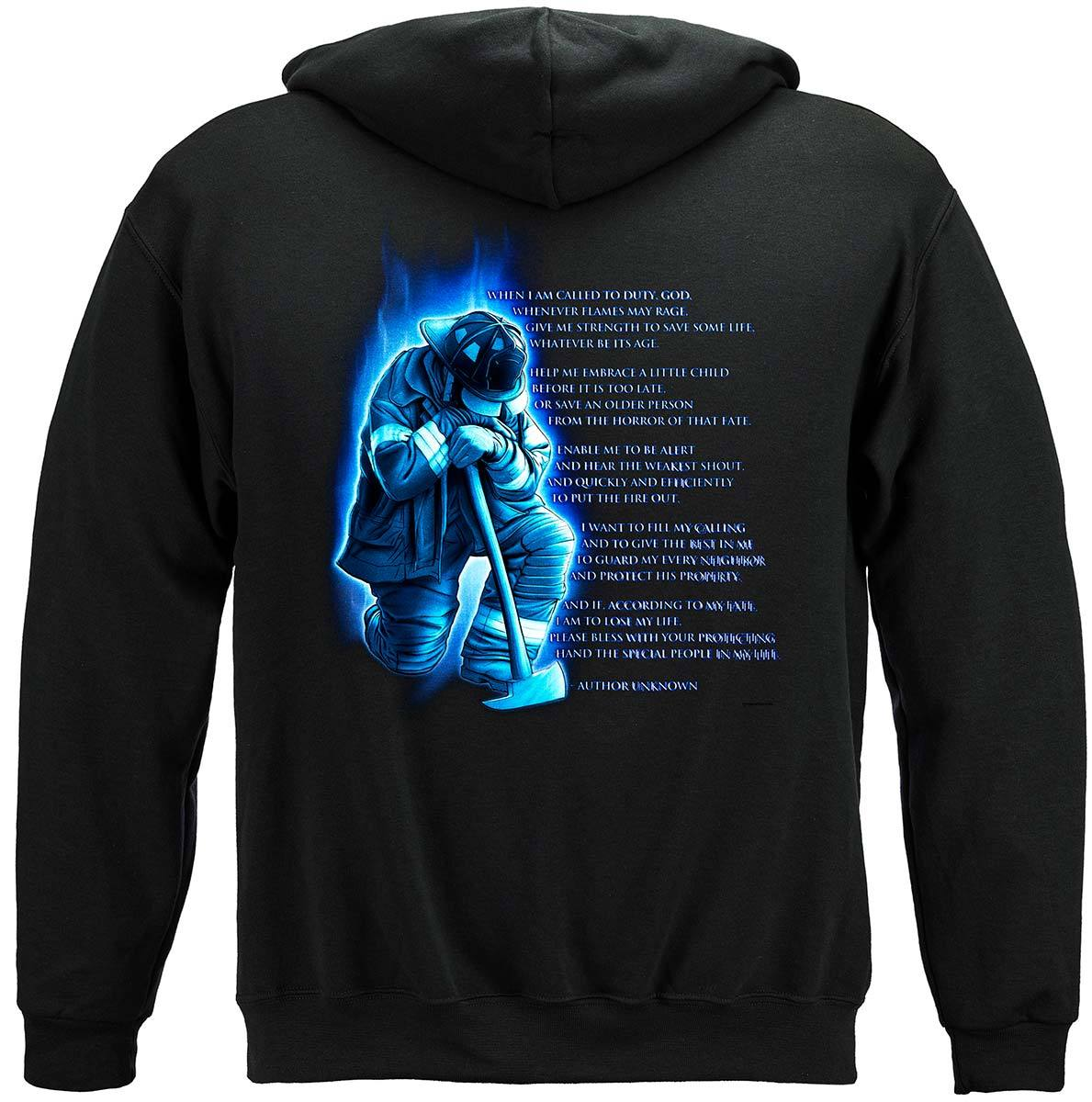 Fireman's Prayer Premium Hooded Sweat Shirt