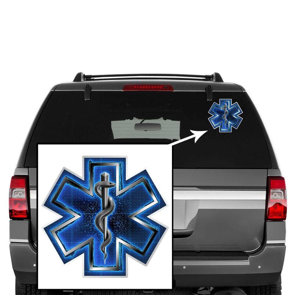 Silver Snake EMT On Call Premium Reflective Decal