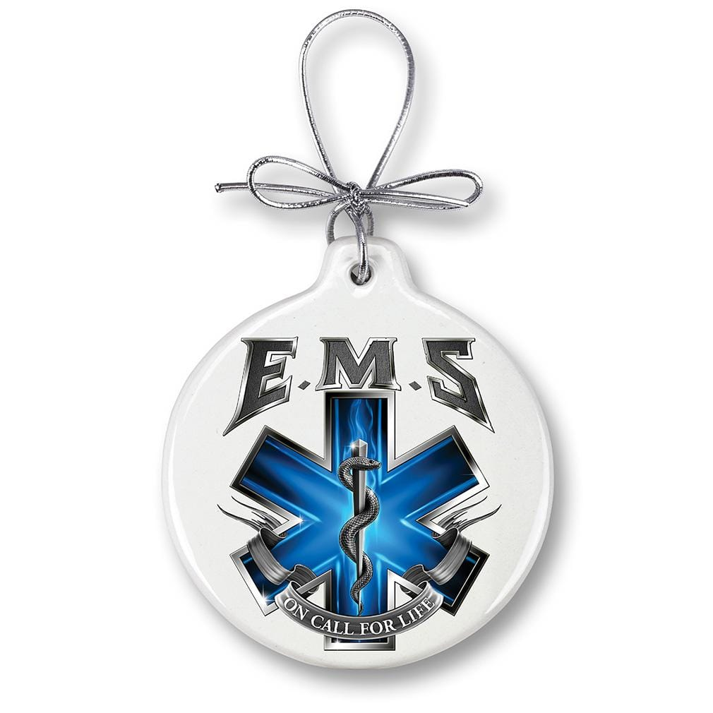 EMS On Call For Life Christmas Tree Ornaments
