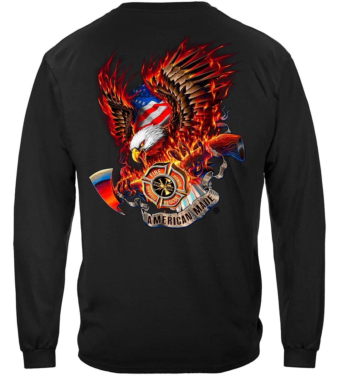Patriotic Fire Eagle American Made Premium Long Sleeves