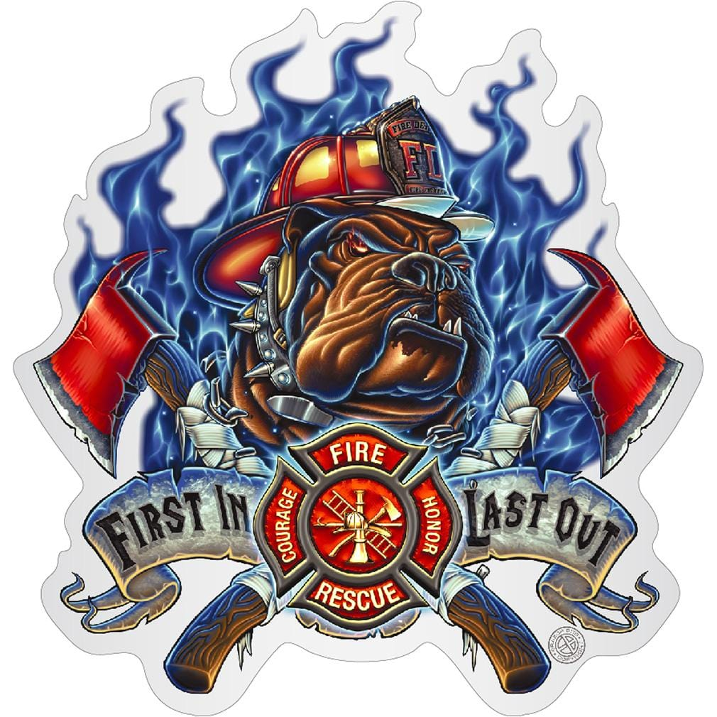 Firefighter First In last Out Premium Reflective Decal