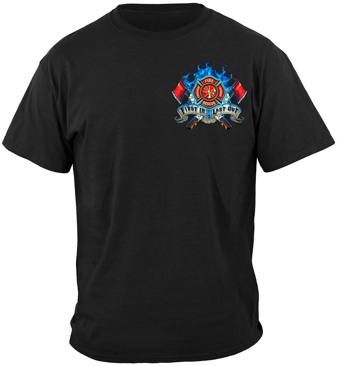 Firefighter Fire Dog First in Last Out Premium Long Sleeves