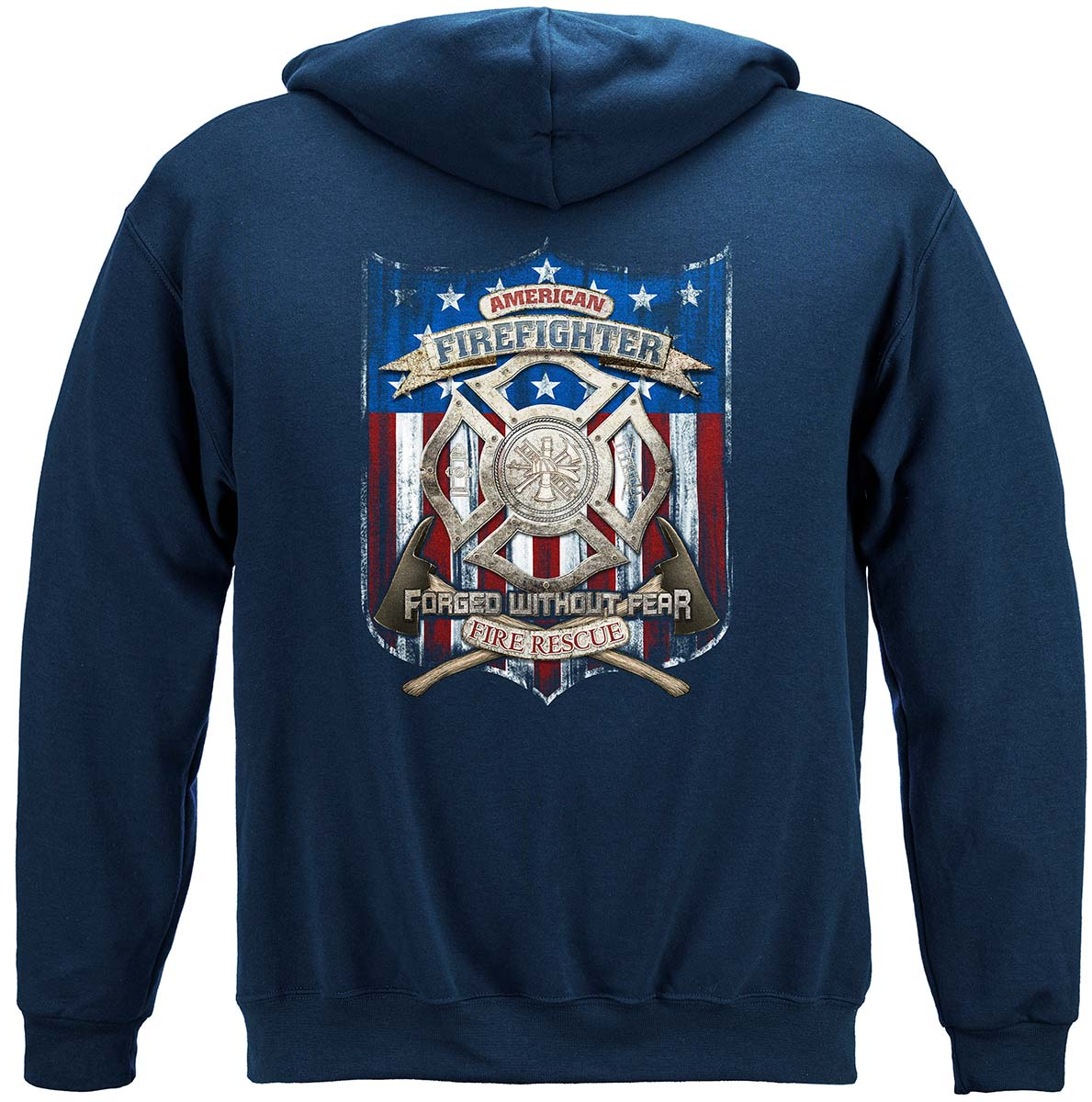Firefighter American Made Premium Hooded Sweat Shirt