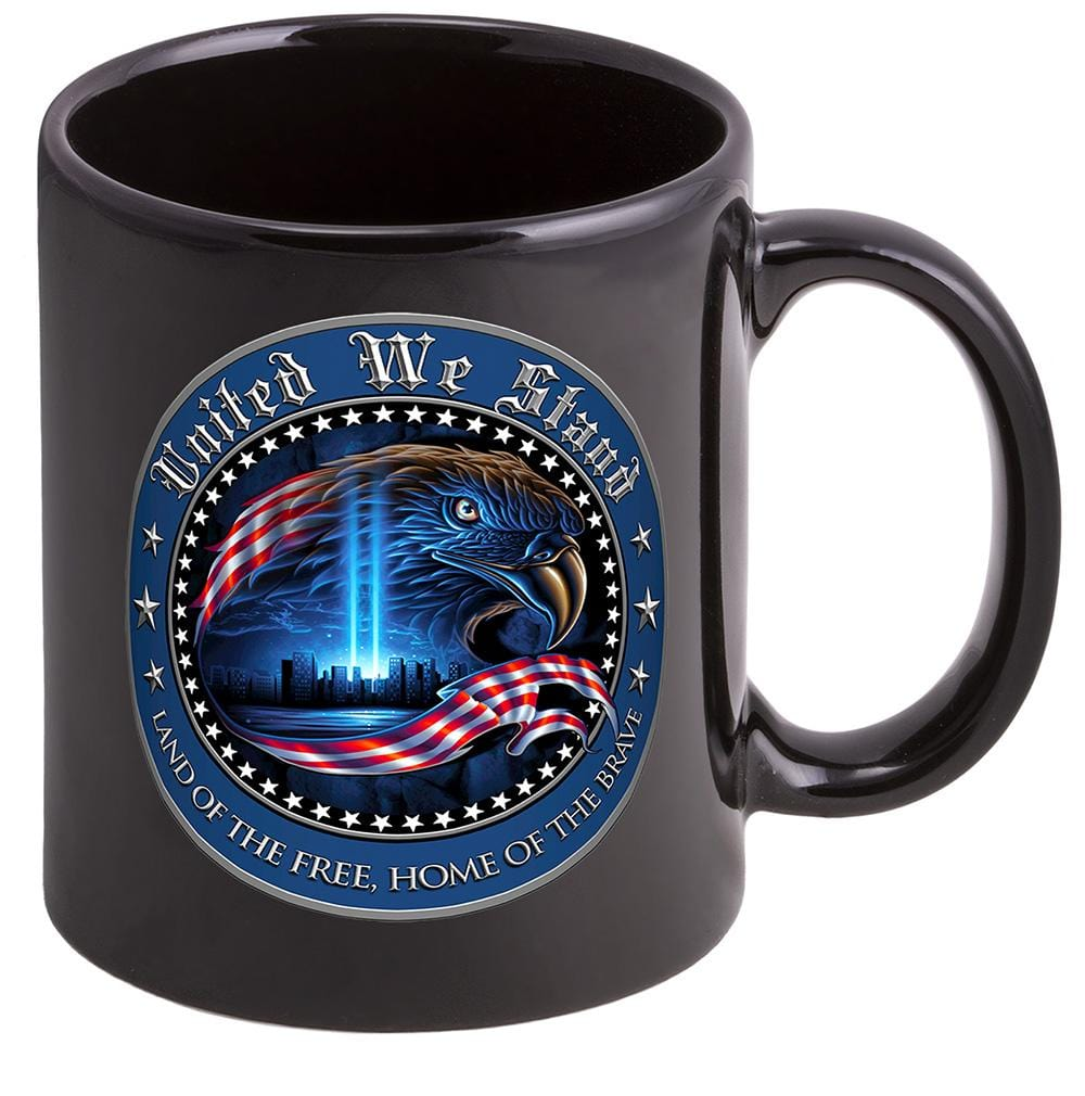Patriotic United We Stand Stoneware Black Coffee Mug Gift Set