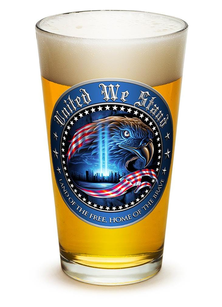 United We Stand Patriotic 23oz Pint Glass Glass Set