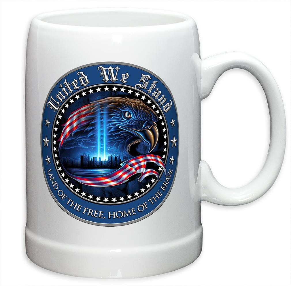 Patriotic United We Stand Stoneware White Coffee Mug Gift Set