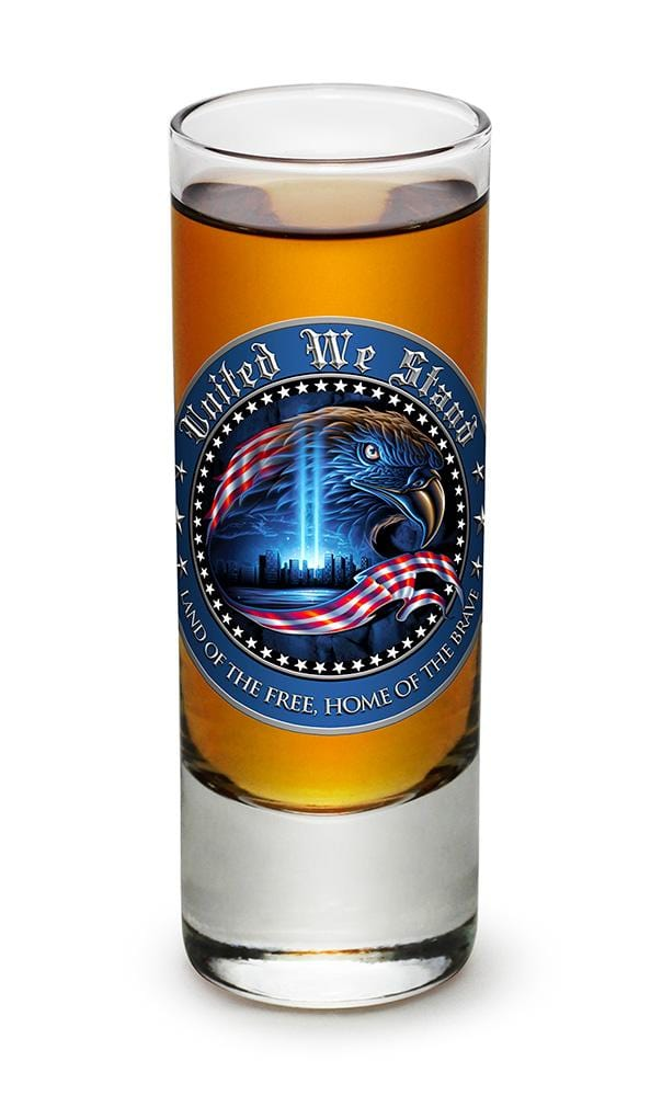 United We Stand Patriotic 2oz Shooter Shot Glass Glass Set