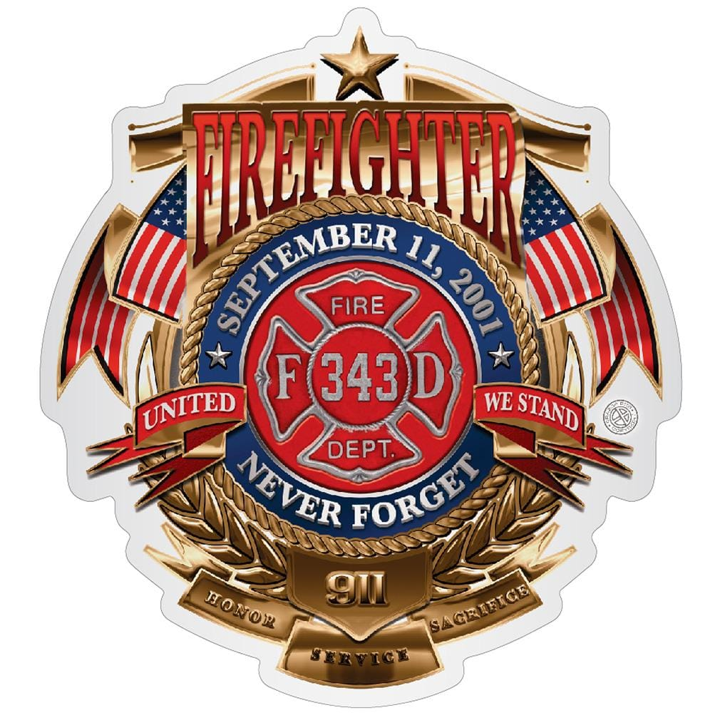 Firefighter Badge Of Honor Premium Reflective Decal