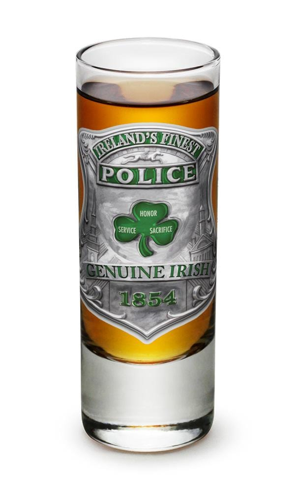 Garda Irelands Finest 2oz Shooter Shot Glass Glass Set