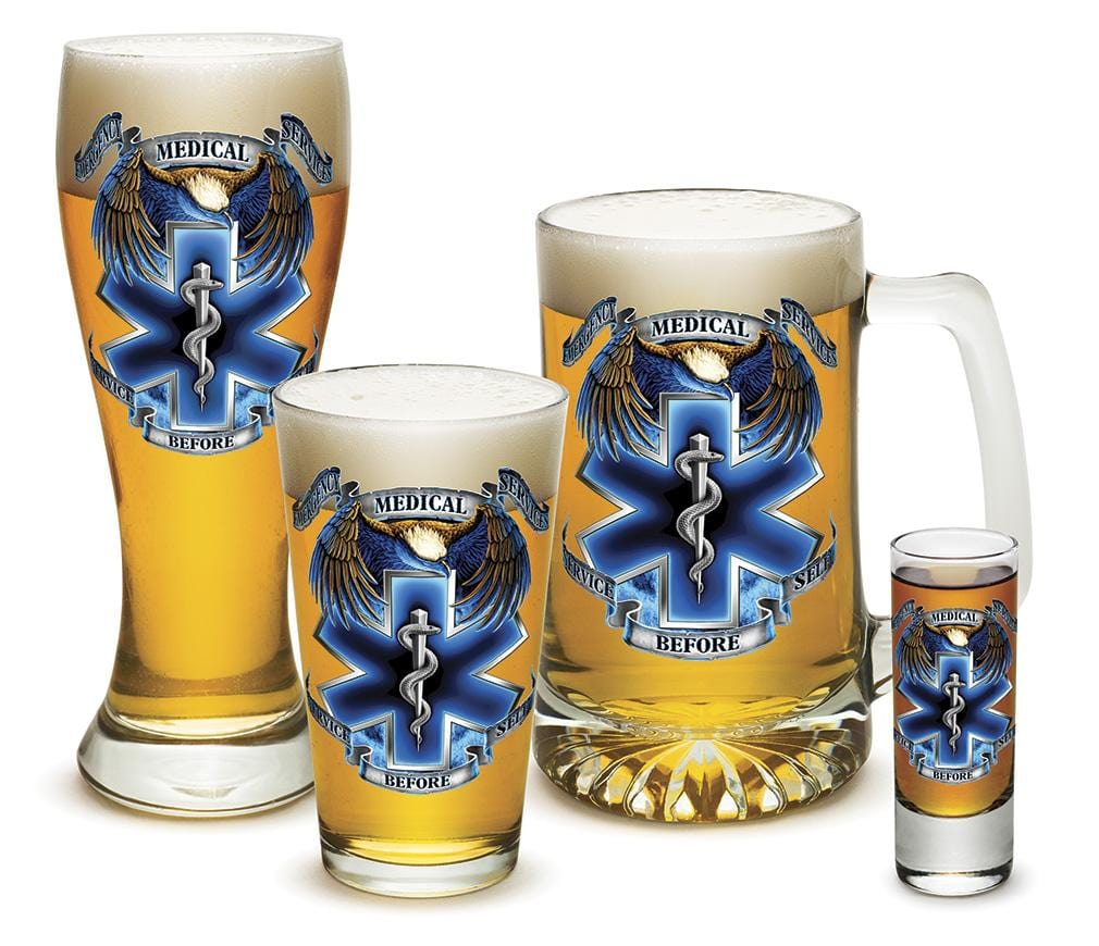 Heroes EMS 4 Piece Glass Gift Set