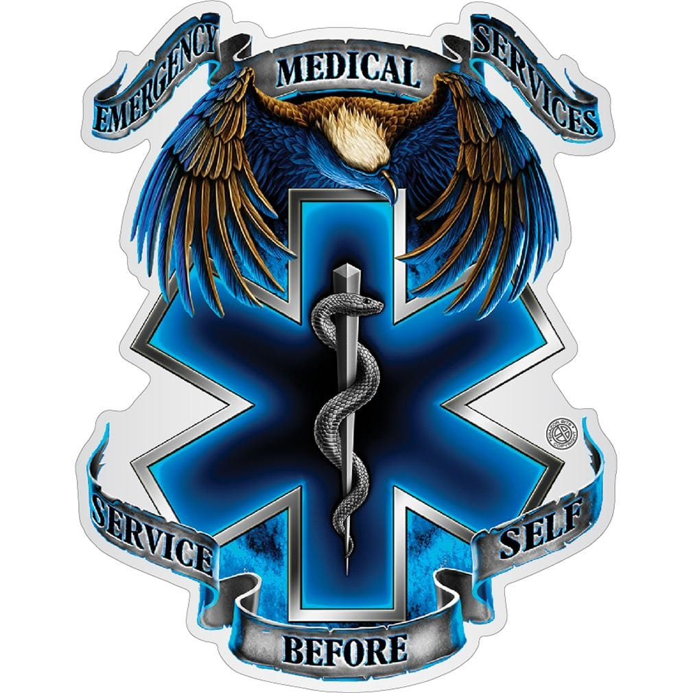Hero's EMS Premium Reflective Decal