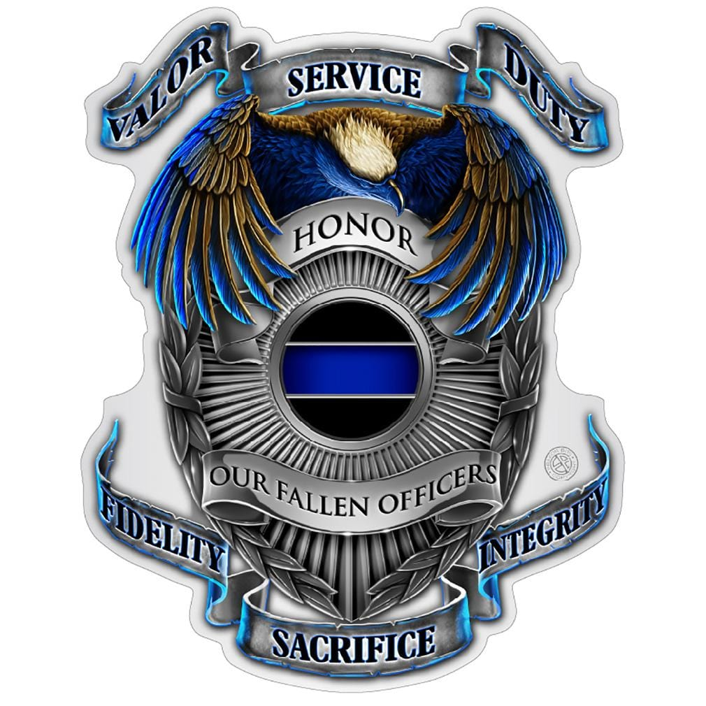 Honor our fallen officers Premium Reflective Decal