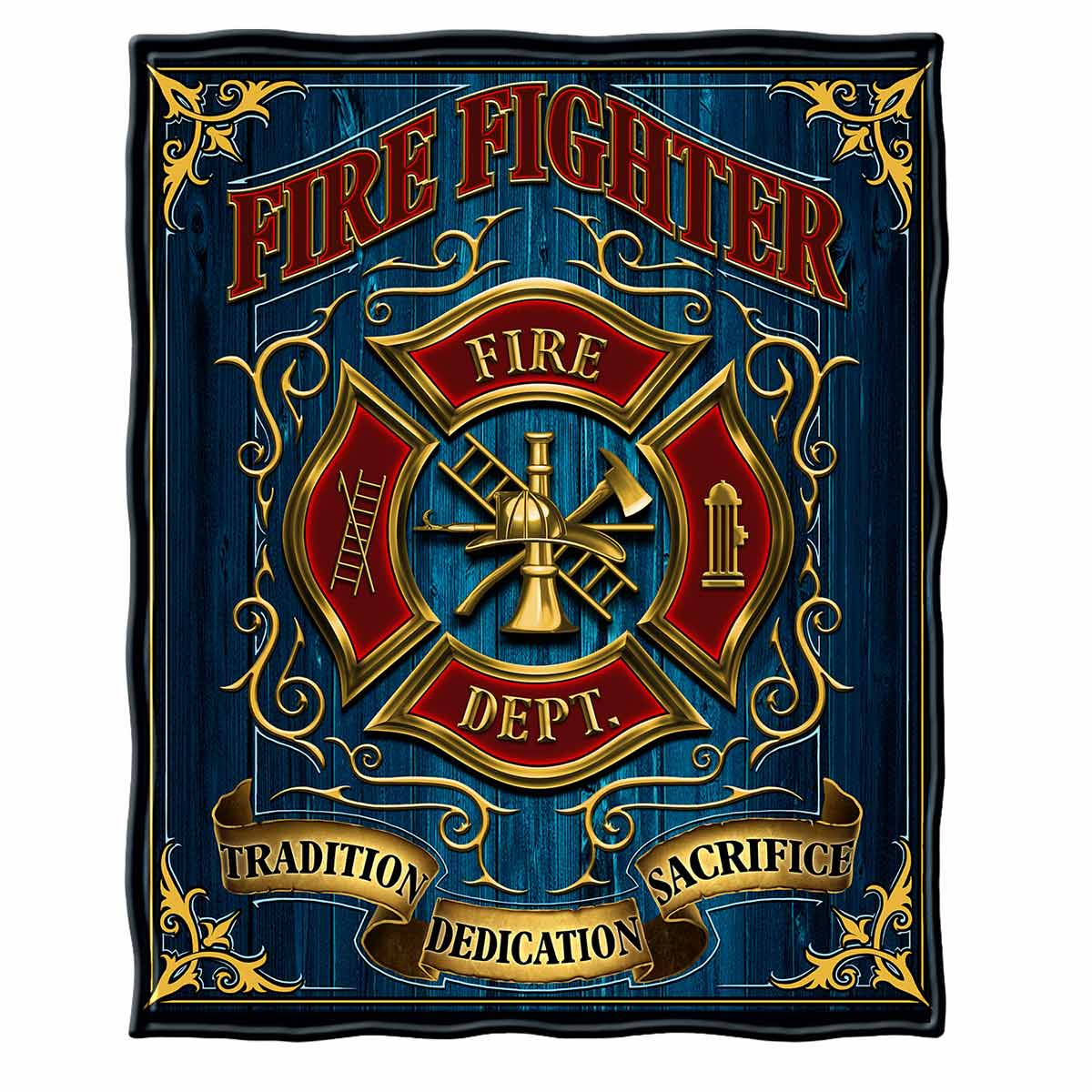Volunteer Fire Tradition Sacrifice Dedication Premium Blanket