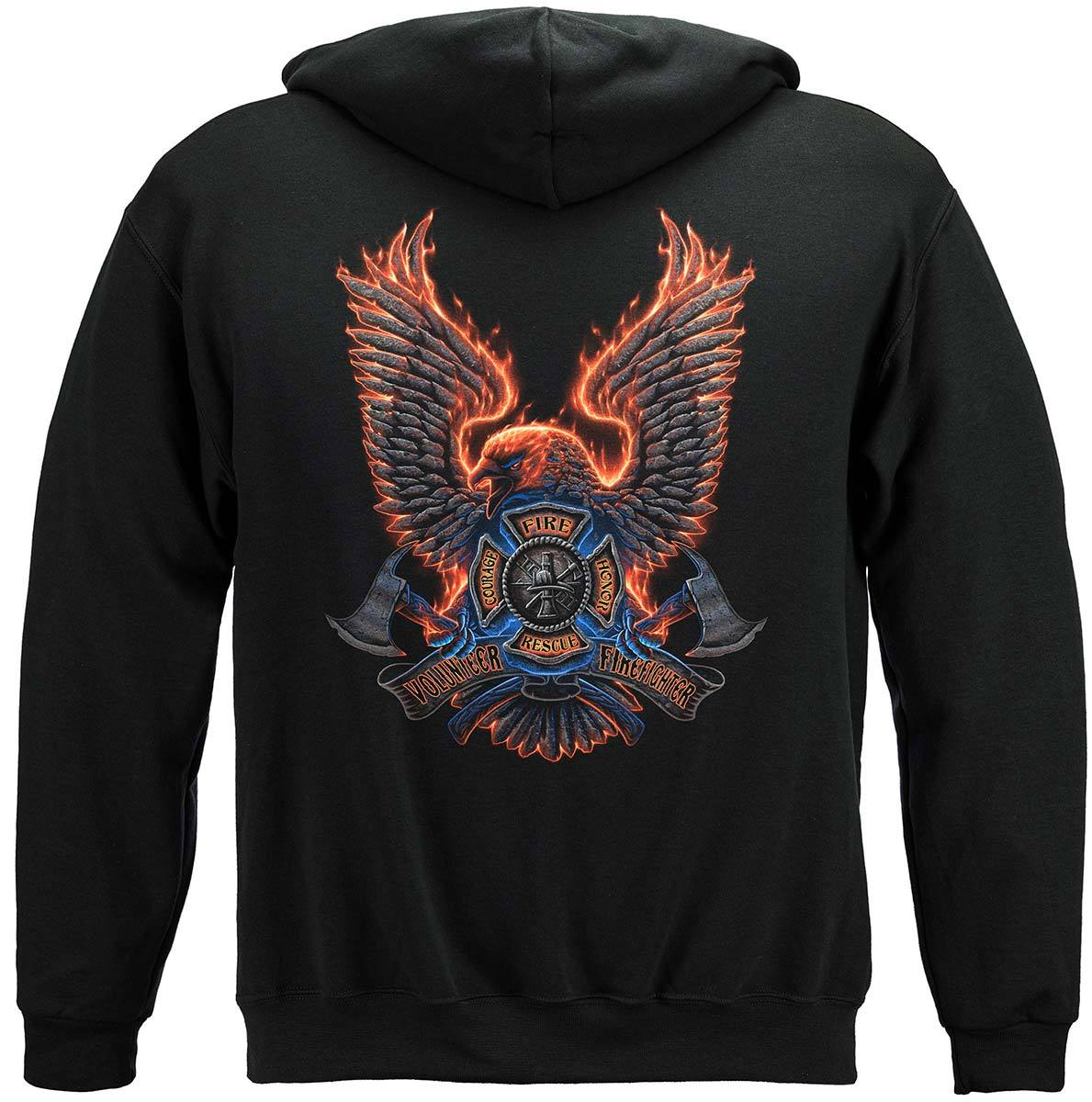 Volunteer Fire Eagle Premium Hooded Sweat Shirt