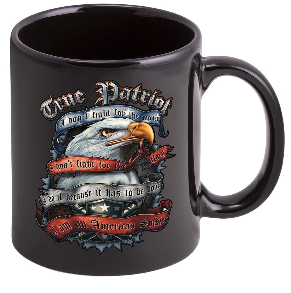 Patriotic True Patriot Stoneware Black Coffee Mug Gift Set