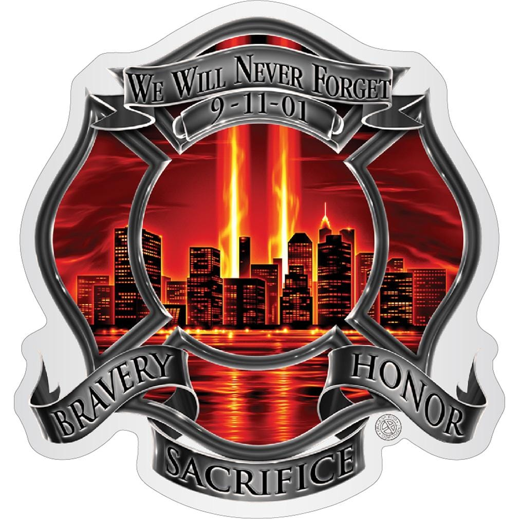 Red High Honor Firefighter Tribute Premium Reflective Decal