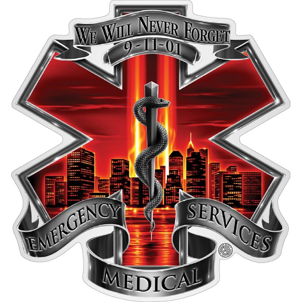 Red High Honor EMS Tribute Premium Reflective Decal